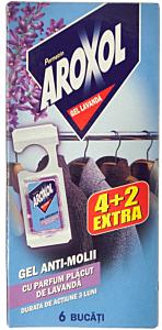 Gel anti-molii cu parfum de lavanda Aroxol 6buc