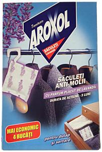 Saculeti anti-molii cu parfum de lavanda Aroxol 4buc