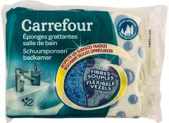 Burete abraziv pentru baie Carrefour 2buc