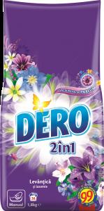 Detergent manual 2in1 cu levantica si iasomie Dero Flori Balsam 1.8kg
