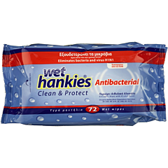 Servetele umede antibacteriene Wet Hankies 72buc