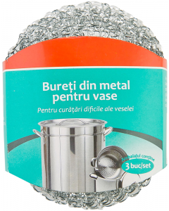 Bureti din metal pentru vase 3 buc