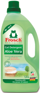 Detergent lichid aloe vera Frosch, 20 spalari, 1.5 L