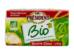 Unt Bio nesarat 82% grasime President 250g