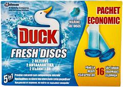 Odorizant pentru toaleta Duck fresh discs marine 2 x 36 ml