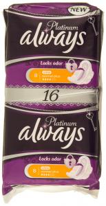 Pachet Duo absorbante Always Platinum Ultra Normal Plus Locks Odor 16buc