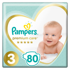 Scutece Pampers Premium Care Jumbo Pack Marimea 3 , 6-10 kg, 80 buc