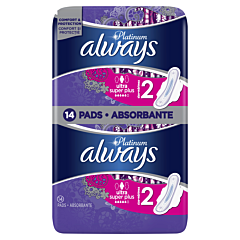Absorbante Always Platinum Ultra Super Plus, 14 buc
