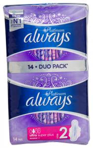 Pachet Duo absorbante Always Platinum Ultra Super Plus 14buc
