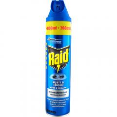 Spray impotriva mustelor si tantarilor Raid 600ml