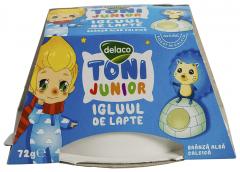 Branza alba calcica Delaco Toni Junior Igluul de lapte 72g