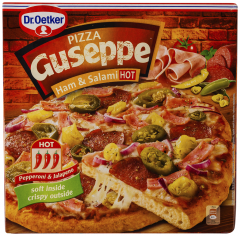 Pizza picanta cu sunca si salam Guseppe 400g