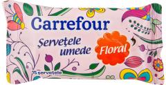 Servetele umede Floral Carrefour 15buc