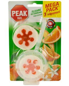 Odorizant WC portocala floare de curatare Peak 3x45g