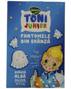 Branza alba calcica Delaco Toni Junior Fantomele din branza 108g