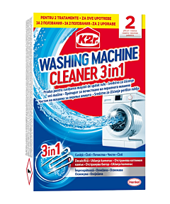 Tratament anticalcar K2r Washing Machine Cleaner, 2buc