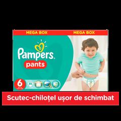 Scutece chilotel Pampers Pants, 88 bucati, 6 Extra Large, 16+ kg