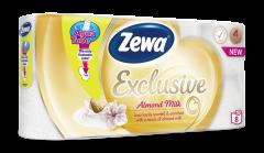 Hartie igienica Zewa Exclusive Almond Milk, 4 straturi, 8 role