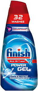 Detergent gel pentru masina de spalat vase Finish All in One Max Regular, 32 spalari, 650ml