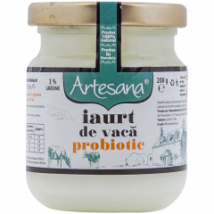 Iaurt natural de vaca probiotic Artesana 220ml