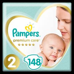 Scutece Premium Care, marimea 2, 4-8Kg, Pampers 148buc