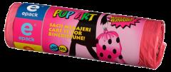 Saci menajeri cu snur pop-art Epack, 35l,  20 buc