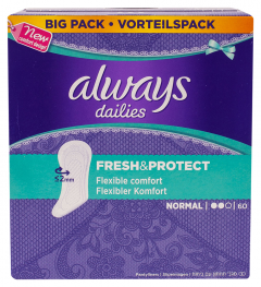Absorbante Always Dailies Fresh & Protect Normal, 60 buc
