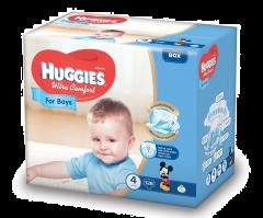 Huggies UC Box nr 4 Boy 126 buc  8-14 kg