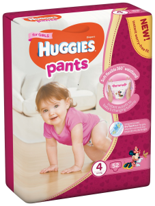 Huggies Pants D Mega nr 4 Girl 52 buc  9-14  kg