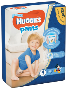 Huggies Pants D Mega nr 4 Boy 52 buc  9-14  kg