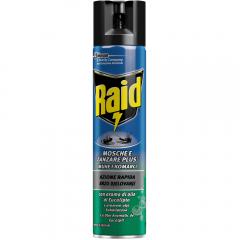 Spray impotriva mustelor si tantarilor cu eucalipt Raid 400ml