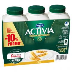 Pachet iaurt de baut cu fibre Activia 3x320g