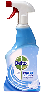 Spray multifunctional suprafete Dettol Trigger Crisp Linen and Aqua Sky, 500 ml