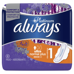 Absorbante Platinum Ultra Normal Plus, Always 8buc