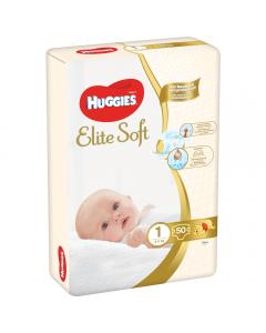 Scutece Elite Soft nr 1 Mega, 3-5 kg, Huggies 50buc