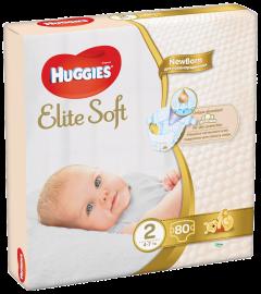 Scutece Huggies Elite Soft (nr 2) Mega 80 buc, 4-7 kg