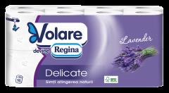 Hartie igienica Volare Delicate Lavender, 16 role, 3 straturi