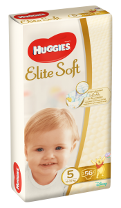 Scutece Elite Soft nr 5, 12-22kg, 56 buc, Huggies