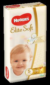 Scutece Huggies Elite Soft Marimea 5, 12-22kg, 56 buc
