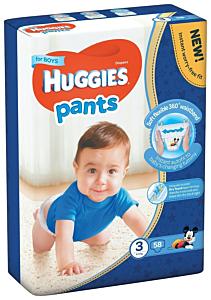 Scutece Pants Huggies nr 3 Boy, 6-11 kg, 58bucati