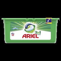 Detergent automat capsule 3in1 pods Ariel Mountain Spring, 28 spalari, 28 buc