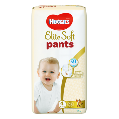Scutece chilotel Huggies Elite Soft Pants Mega Pack Marimea 4, 9-14 kg, 42 buc
