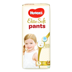Scutece chilotel Huggies Elite Soft Pants Mega Pack Marimea 5, 12-17 kg, 38 buc