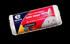 Saci menajeri funny bunny Epack, 20l, 30 buc/rola