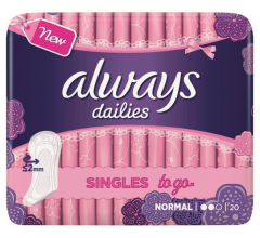 Absorbante Always Pantyliners Single Wrap 20 buc