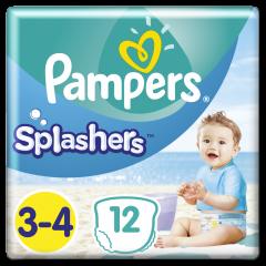 Scutece inot Splashers, marime 3-4, 6-11 kg, Pampers 12buc
