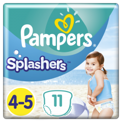 Scutece Pampers Splashers Marimea 4-5, 9-15 kg, 11 buc