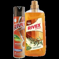 Pachet spray mobila Rivex Floral, 300 ml + Detergent lemn Rivex, 1l