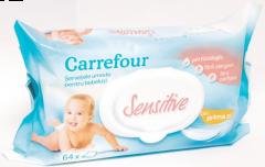Servetele umede bebe senzitive Carrefour 64bucati