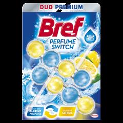 Odorizant toaleta Bref Perfume Switch Marine & Citrus, 2x50g